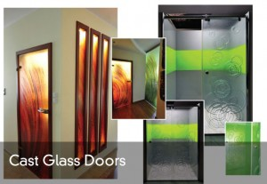 Cast glass doors-title