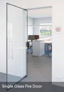 Single Glass Fire Door title